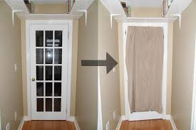 not a house but a home tutorial diy french door curtain alternative