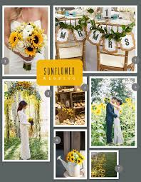sunflower wedding a sunflower themed wedding myweddingfavors wedding tips