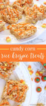 scrumptious halloween snack candy corn rice krispies