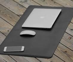 Gaming Desk Mat Leather Desk Mat Large Mouse Pad Leather Desk Pad Extent Mouse Pad