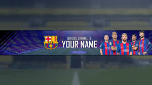 barcelona channel art template download link psd youtube