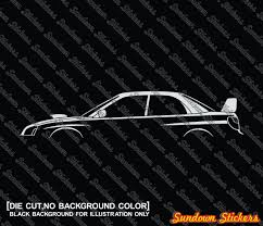 blob eye subaru 2x car silhouette stickers for subaru impreza wrx sti blob