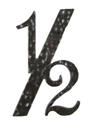 hammered wrought iron house number 1 2 4 inch high tudor