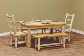 cedar dining room table white cedar farm bench countryside