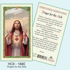 card for sick person prayer card sacred heart of jesus prayer for the sick dj