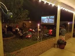 Backyard Movie Theatre by Outdoor Cinema Services U0026 Inflatable Screen Rentals Desert Air