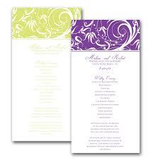 order wedding programs online riledesigns swirl border wedding program online store