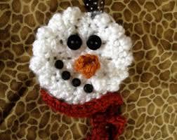 crochet snowman etsy