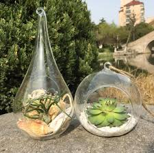 glass teardrop terrarium globe candle holder for home decoration