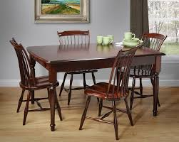 beautiful farmhouse dining table set on amish country farmhouse