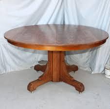 antique mission oak dining round table gustav stickley arts