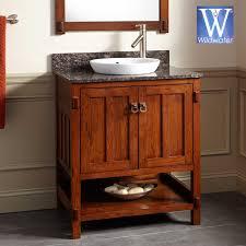 oak bathroom vanities mission