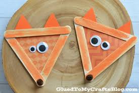 popsicle stick fox kid craft