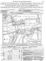 Lake Superior Map 1910 Lake Superior And Ishpeming Railroad Map Marquette County