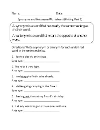 Light Synonyms 11 Best Synonyms Images On Pinterest English Lessons And Worksheets