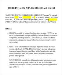 Non Disclosure Statement Template by 12 Non Disclosure Agreement Templates Free Sle Exle