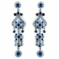 Chandelier Earings 4 Navy Blue Chandelier Earrings