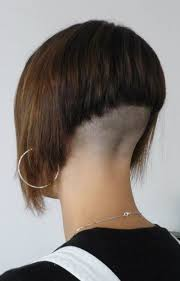 short hair with length at the nape of the neck awesome buzzed back bob haircut pictures hairstyles next