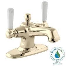 kohler bancroft 4 in 2 handle mono block design bathroom faucet