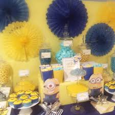 themed l minion themed kids party dessert table candy buffets l sweetie