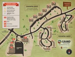 Map Of Grand Canyon Maps And Directions Yavapai Lodge Trailer Village Desert View