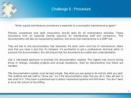 Challenge Procedure The Challenges Facing In Pharmaceutical Maintenance
