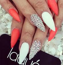 stiletto nails black and white stiletto nails stiletto nails 8