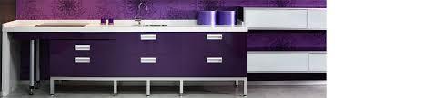meuble cuisine violet plan de travail couleur aubergine affordable crdence de cuisine
