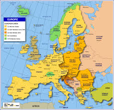 Map Of The Eastern United States by Map Of Europe Member States Of The Eu Nations Online Project