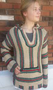 Mexican Rug Sweater Retro Hippie Hoodie Knitting Patterns And Crochet Patterns From