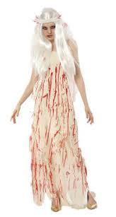 Prom Queen Halloween Costumes Dead Bride Blood Stained Prom Queen Fancy Dress Halloween Costume