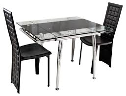 dining room exciting expandable dining table set in black theme