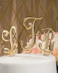 gold letter cake topper gold initial wedding cake toppers wedding corners