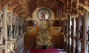 gold christmas the puts up 20ft gold christmas tree at castle