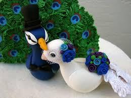 peacock wedding cake topper peacock keepsake wedding cake topper polymerclay peacock