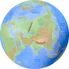 map asia continent of asia maps