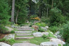 Rock Garden Steps by Brackenrig Landscaping Stone Stairs
