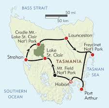 map of tasmania australia tasmania itinerary map wilderness travel