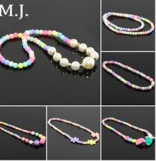 resin bead necklace images Original fashion new candy color sweet girl pearl beads necklace jpg