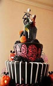 nightmare before themed birthday cake
