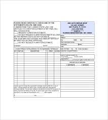 Free Auto Repair Invoice Template Excel Auto Repair Invoice Templates 8 Free Word Excel Pdf Format
