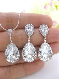swarovski earring necklace set images 112 best wedding accessories images diamond jpg