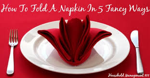 how to fold a napkin with how to