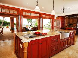 red kitchen islands barn red kitchen island red farm kitchen