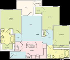 Three Bedroom Apartments San Antonio Floorplans Legacy Brooks Apartments