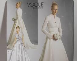 vogue wedding dress patterns vogue bridal pattern etsy