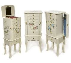 Anti Tarnish Jewelry Armoire Thomas Pacconi Handpainted Floral Anti Tarnish Jewelry Armoire On
