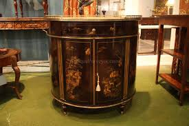 Theodore Alexander Buffet by Chinoiserie Demilune Or Bow Front Dining Cabinet