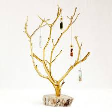 gilded branches jewelry tree jewelry hanger uncommongoods