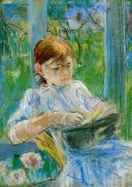 Portrait Of The Artists Daughter Julie Manet At Gorey - Berthe morisot in the dining room
